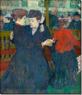 Две вальсирующие женщины, Мулен Руж - Тулуз-Лотрек, Анри де
