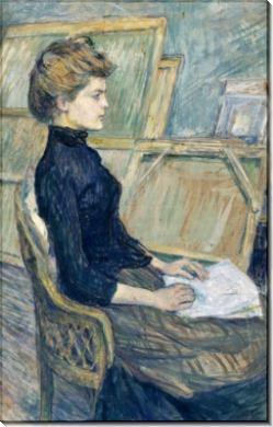 Женщина в мастерской художника (Элен Вари) - Тулуз-Лотрек, Анри де