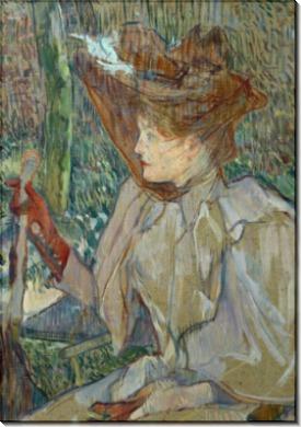 Женщина в перчатках (Онорина Платцер) - Тулуз-Лотрек, Анри де