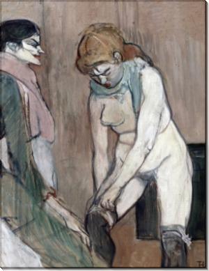 Женщина, надевающая колготки - Тулуз-Лотрек, Анри де