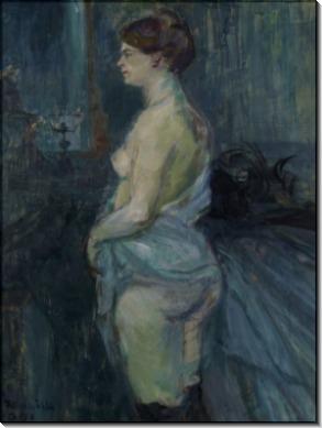 Женщина, приподнявшая сорочку - Тулуз-Лотрек, Анри де
