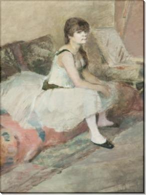 Танцовщица на розовом диване - Тулуз-Лотрек, Анри де