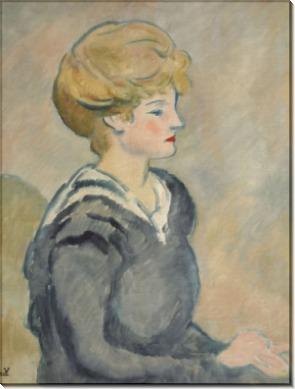 Молодая женщина в полосатой кофте - Вальта, Луи