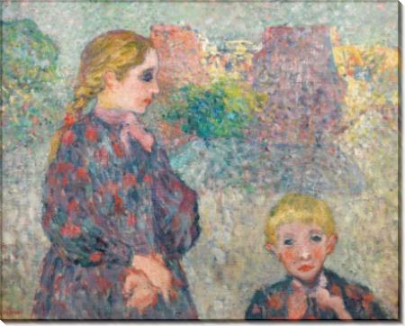 Двое детей на площади - Вальта, Луи