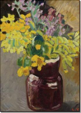 Цветы в коричневом кувшине - Вальта, Луи