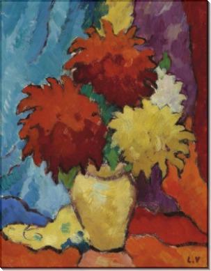 Георгины в желтой вазе - Вальта, Луи