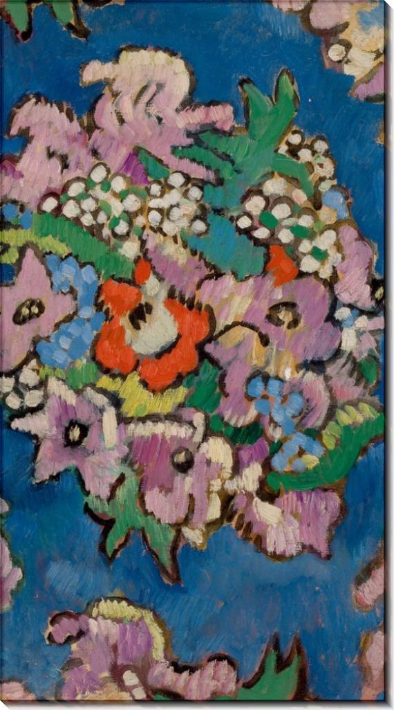 Цветы на синем фоне - Вальта, Луи
