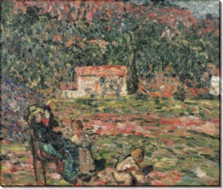 Женщина с детьми в саду - Вальта, Луи