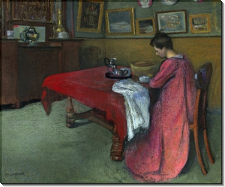 Женщина в комнате в красном халате - Манген, Анри
