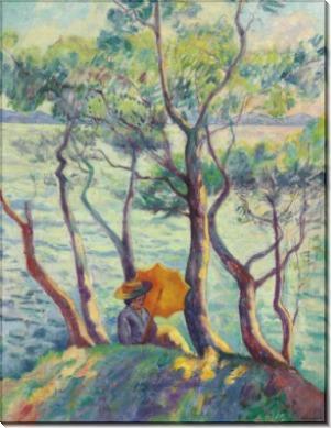 Жанна с зонтиком в Кавальере - Манген, Анри