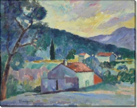 Пейзаж в окрестностях Сен-Тропе - Манген, Анри