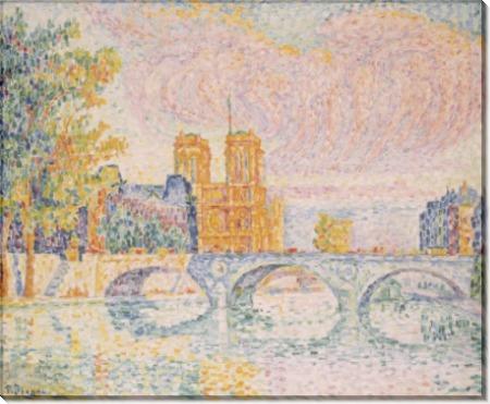 Собор Парижской Богоматери с мостом через Сену, Париж - Синьяк, Поль