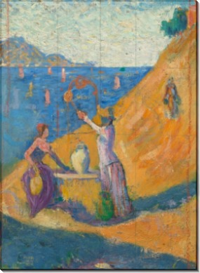 Женщины у колодца, этюд - Синьяк, Поль