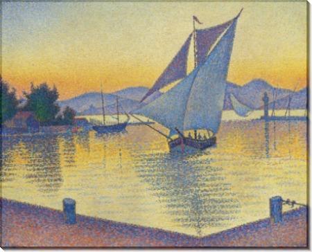 Портовый пейзаж на закате - Синьяк, Поль