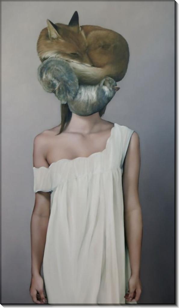 Девушка с лисой и шиншиллой - Копии Эми Джадд
