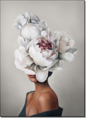 Девушка с пионами в цвете - Копии Эми Джадд