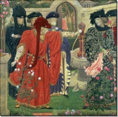 Выбор Красной и Белой Розы в саду старого храма - Пейн, Генри