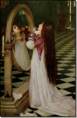 Марианна перед зеркалом - Уотерхаус, Джон Уильям