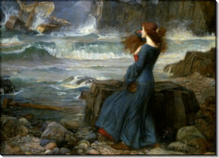 Миранда на берегу бурного моря - Уотерхаус, Джон Уильям